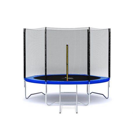 Trampolina ogrodowa 183cm 6ft drabinka siatka zewnętrzna 3 nogi