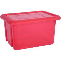 Duży pojemnik 55 litrów plastikowy lekki zamykany na zabawki ubrania do szafy
