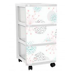 Organizer plastikowa szafka na kółkach 3 duże szuflady do domu i biura