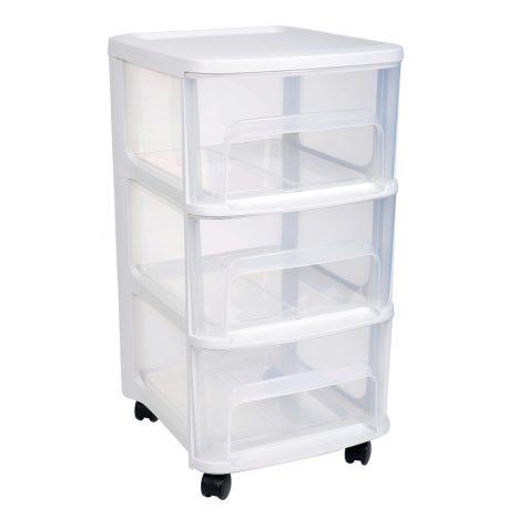 Góra Nowoczesny organizer do pokoju lub biura szafka na kółkach szuflady LN07