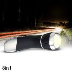 Niezbędnik kierowcy latarka światło alarmowe narzędzia nóż do pasów młotek do szyb zestaw