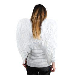 Duże skrzydła anioła aniołka z piór strój na jasełka 60 x 53cm