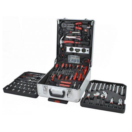 Zestaw narzędzi kluczy w walizce 187 elementów 4 szuflady śrubokręty młotek i wiele innych