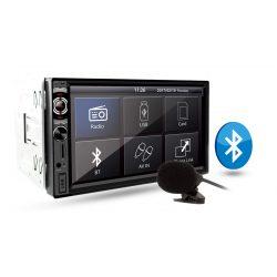Radio samochodowe VORDON HT-852BT dotykowy ekran 7 cali moduł Bluetooth microSD USB wejście AUX