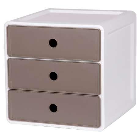 Szafka modułowa z polipropylenu 3 szuflady takie same szary