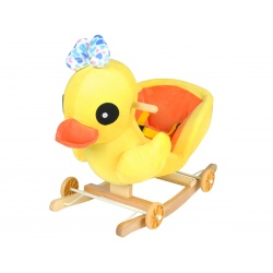 Bujak wesoła kaczka na kółkach jeździk na biegunach 2w1 gra melodyjkę