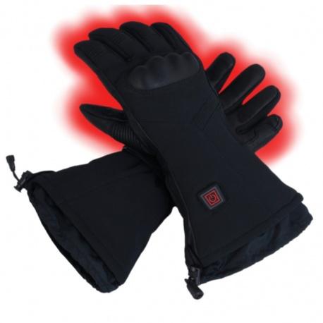 Ogrzewane rękawice narciarskie GS7 GLOVii z akumulatorem czarne ochraniacz na kostki męskie