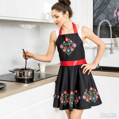 Nitly Folk fartuszek kuchenny sukienka wysoka jakosć wspaniale wykonany