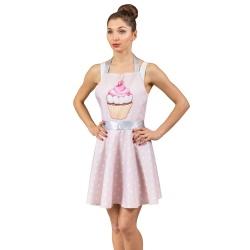Nitly Muffin fartuszek kuchenny różowy babeczka jak sukienka