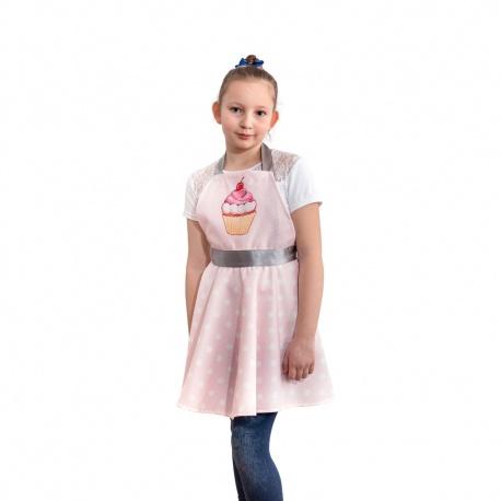 Nitly Muffin Mini fartuszek kuchenny różowy babeczka jak sukienka dla dziewczynki