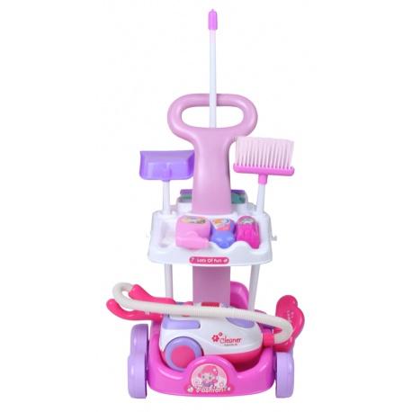 Zabawkowy wózek zestaw do sprzątania odkurzacz dla dzieci AGD