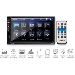 Radio samochodowe VORDON HT-600BT dotykowy wyświetlacz 7 cali wejście AV microSD USB Bluetooth