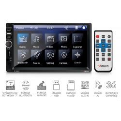 Radio samochodowe Vordon HT-851BT gniazdo USB microSD wejście AV Bluetooth