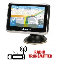 Nawigacja samochodowa VORDON 4,5'' + MAPY Europy transmiter FM odblokowana