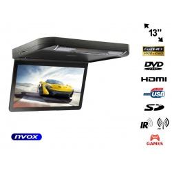 Podwieszany monitor samochodowy LED 13' napęd DVD USB SD AV HDMI IR FM