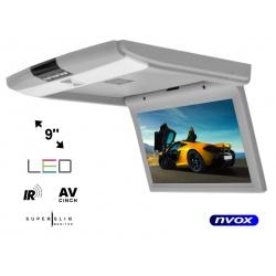 Monitor podwieszany podsufitowy 9 cali ekran LED SUPER CIENKI 2 x AV