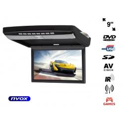 Monitor podwieszany 9 cali napęd DVD SD USB transmiter FM nadajnik IR