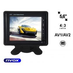 Monitor samochodowy z ekranem LCD o przekątnej 5 cali NVOX automatyczne uruchomienie ramka do
