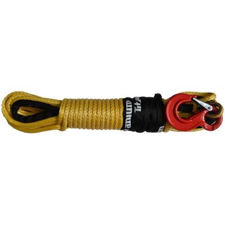 Lina syntetyczna z hakiem o długości 26 metrów grubość 8 mm Dyneema