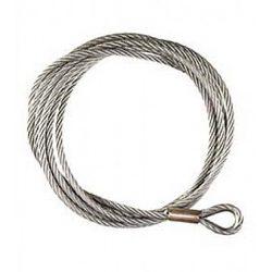 Lina stalowa do wyciągarek eletktrycznych i ręcznych o grubości 4 mm i długości 14,5 metra