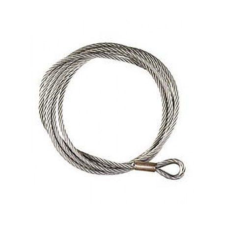 Lina stalowa do wyciągarek eletktrycznych i ręcznych o grubości 6 mm i długości 13 metrów