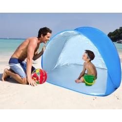Namiot plażowy samo rozkładający filtr UV 150x100cm chroni przed wiatrem słońcem