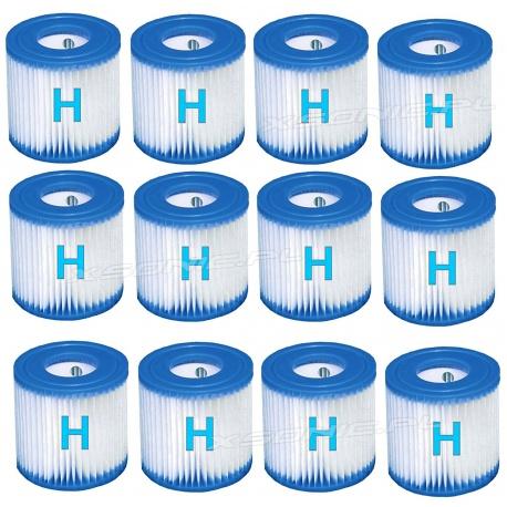 12 x Filtr wkład do pompy filtrującej 1249 litrów typu H Intex 29007