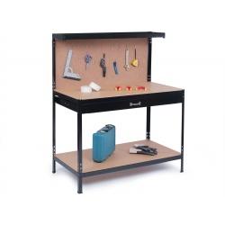 Stół warsztatowy z szufladą i ścianką na narzędzia HUMBERG 120 x 60 x 150 cm