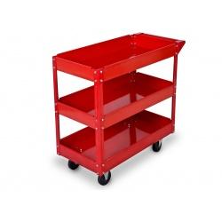 Wózek na narzędzia wózek warsztatowy narzędziowy trzy półki gumowe kołka