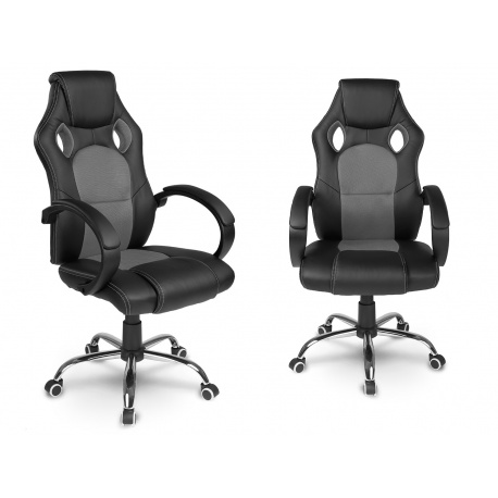 Gamingowy fotel dla gracza kubełkowy jak w sportowym samochodzie biurowy