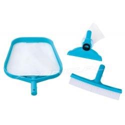 Oryginalne akcesoria do czysczenia wody 3 elementy siatka szczotka odkurzacz INTEX 29056
