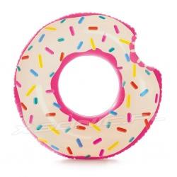 Duże dmuchane koło do pływania Donut pączek 107 cm INTEX 56265