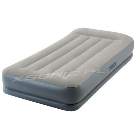 Materac welurowy Pillow Rest z wbudowaną pompką 99 x 191 x 30 cm INTEX 64116