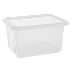 Duży pojemnik 30 litrów EDA plastikowy lekki zamykany na zabawki ubrania do szafy