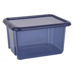 Pojemnik plastikowy 18 litrów EDA zamykany na klocki dokumenty do szafy 2 kolory