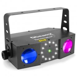 Efekt oświetleniowy reflektror sceniczny BeamZ Terminator IV moonflower laser stroboskop
