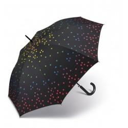 Długi parasol w kolorowe kropki z automatycznym mechanizmem otwierania 105cm