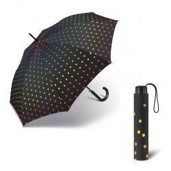 Mini parasol Tęcza w kolorowe kropki manualny mechanizm otwierania pokrowiec