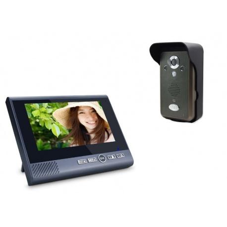 Bezprzewodowy videodomofon Reer Electronics 7 calowy ekran czujnik ruchu port USB