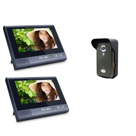 Bezprzewodowy videodomofon Reer Electronics 7 calowy ekran czujnik ruchu port USB jedna kamera i dwa