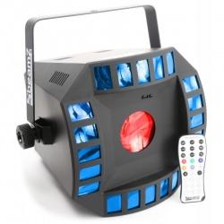 Efekt świetlny BeamZ Cub4 II LED wbudowany mikrofon z regulowaną czułością