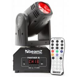 Ruchoma głowa LED Beamz Panther 15 tryb DMX oraz stand-alone