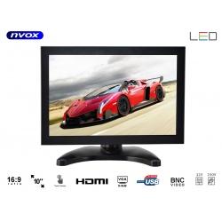 Monitor dotykowy wolnostojący z matrycą LED 10 cali NVOX wbudowane złącze VGA HDMI AV-in