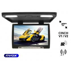 Monitor samochodowy podsufitowy 17 cali LED BRIGHT VIEW transmiter IR 2x wejście AV