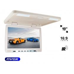 Monitor podwieszany ekran LED 19 cali transmiter IR dwa wejścia AV do autokaru