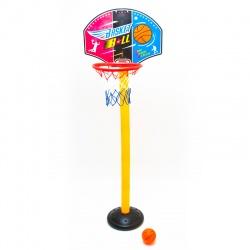 Zestaw do gry w koszykówkę dla dzieci obręcz kosz na słupie