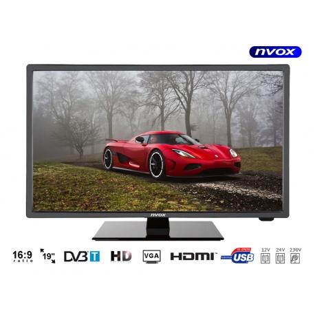 Telewizor samochdowy na jacht łódź z matrycą LED o przekątnej 18,5 cala tuner DVB-T MPEG-4/2 wejście USB