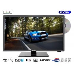 Telewizor z matrycą LED o przekątnej 18,5 cala NVOX odtwarzacz DVD tuner DVB-T MPEG-4/2 wejście USB