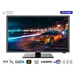 Telewizor LED o przekątnej 22 cali NVOX tuner DVB-T MPEG-4/2 wejście USB złącze HDMI