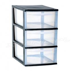 Organizer plastikowa szafka A4 modułowa 3 szuflady duże czarna lub biała
